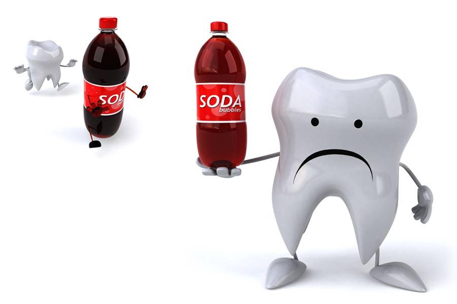 تاثیرات نوشابه انرژی زا روی دندان