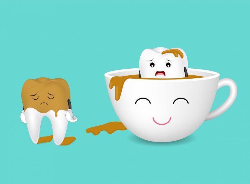 ایجاد لکه دندان با قهوه